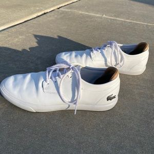 Lacoste White Low Tops